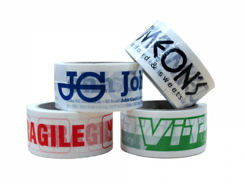 ONE-COLOR Printed Adhesive Tapes FOR SPECIAL PRICES